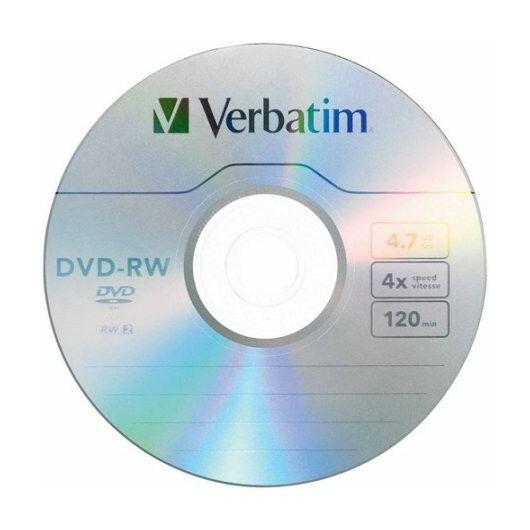 Verbatim DVD-RW 4X Lemez - Papírtokban (10) - 43552/1