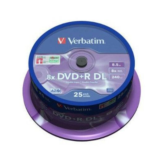 Verbatim DVD+R 8x 8.5GB DL Cake (25) - 43757