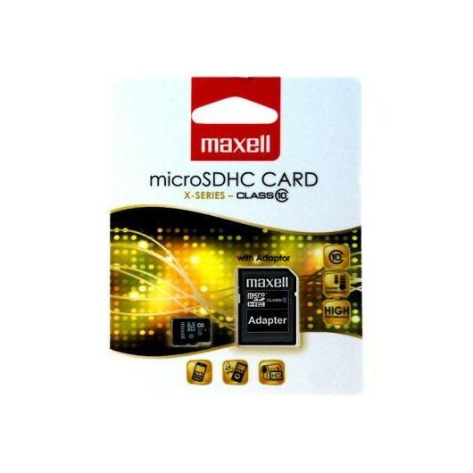 Maxell 4GB Micro SDHC Memóriakártya Class 10 + Adapter - 854715.00.TW