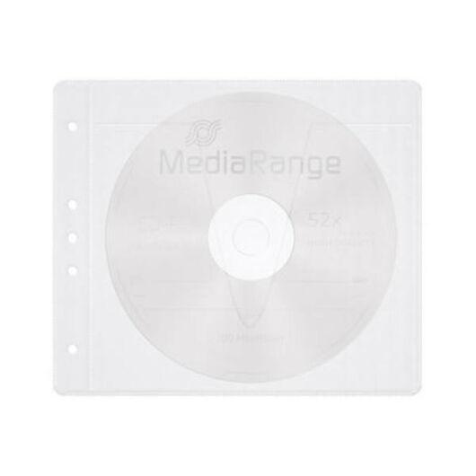 MediaRange Lefûzhető CD tasak fehér 50db - BOX60