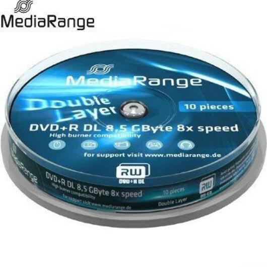 MediaRange DVD+R Dual Layer 8x 8.5GB Lemez Cake (10) - MR466