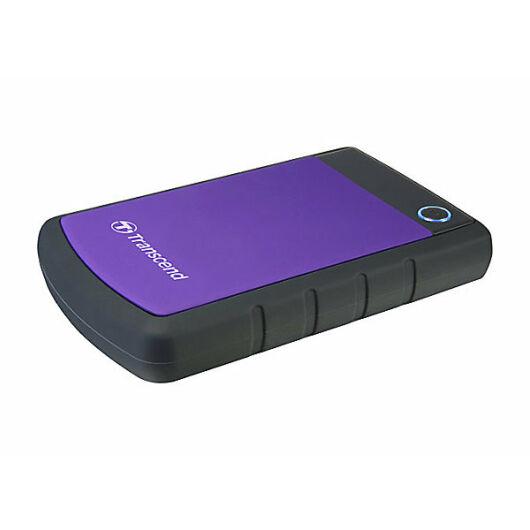Transcend Storejet 25H3P 3TB Ext. HDD Külső Merevlemez 2.5'' USB 3.0, Sw Elite, Otb, Lila - TS3TSJ25H3P