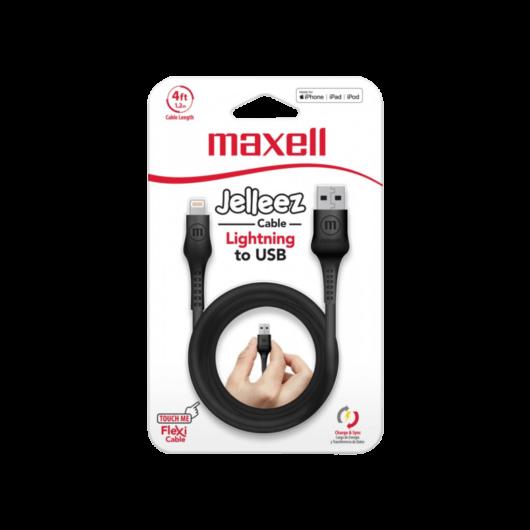Maxell Jelleez Lightning kábel [1,2m] fekete