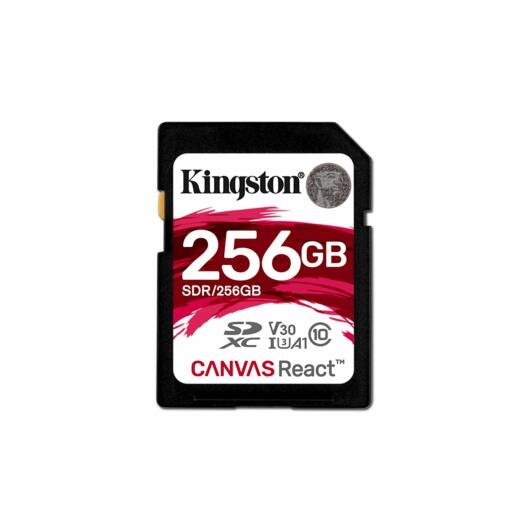 Kingston 256GB Canvas React SDXC Memóriakártya (100/80 Mb/s) - SDR/256GB