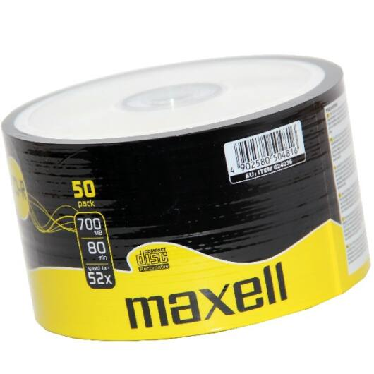 Maxell CD-R 52X Lemez - Shrink (50) - 624036_40