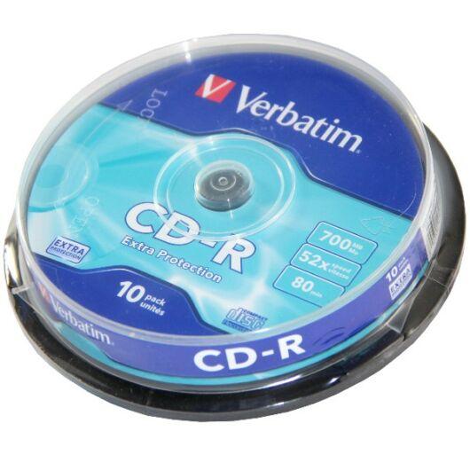 Verbatim CD-R 52X Lemez - Cake (10) - 43437