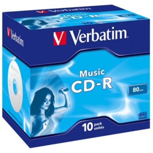Verbatim CD-R 52X Audio Lemez - Normál Tokban (10) - 43365