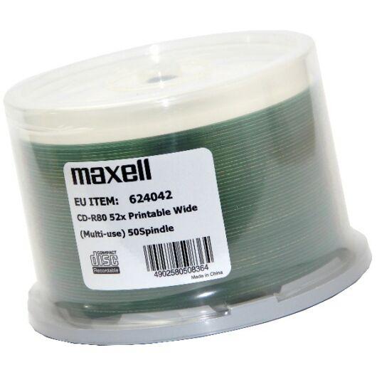 Maxell CD-R 52X Teljes Felületén Nyomtatható Lemez /NO ID/ - Cake (50) - 624042_00