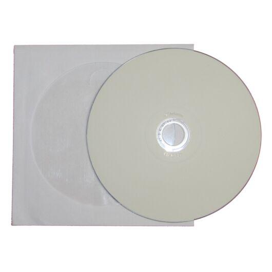 Verbatim CD-R 52X Teljes Felületén Nyomtatható Lemez - Papírtokban (10) - 43439_P
