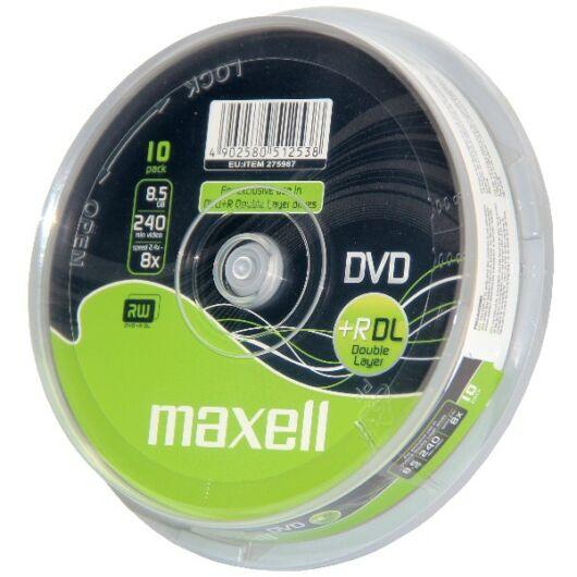 Maxell DVD+R DL 8,5 gB 8X Lemez - Cake (10) - 275987_40