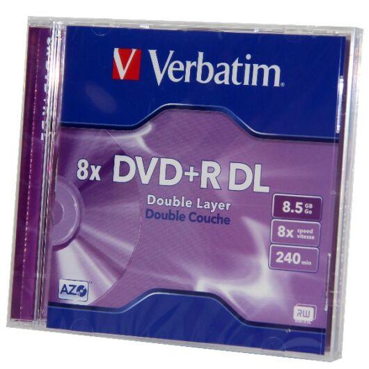 Verbatim DVD+R DL 8X 8,5 gB Lemez, Normál Tokban (1) - 43541