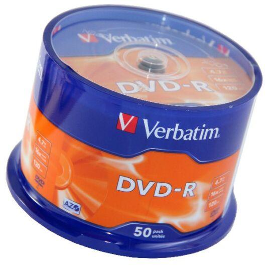 Verbatim DVD-R 16X Lemez - Cake (50) - 43548