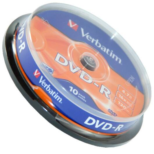 Verbatim DVD-R 16X Lemez, Cake (10) - 43523