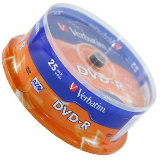 Verbatim DVD-R 16X Lemez - Cake (25) - 43522