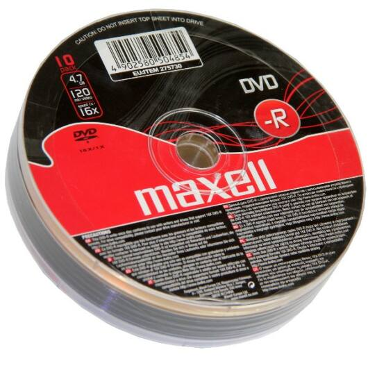 Maxell DVD-R 16X Lemez - Shrink (10) - 275730_40