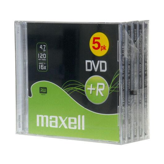 Maxell DVD+R 16X Lemez, Normál Tokban (5) - D1384
