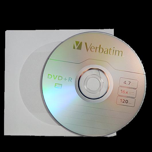 Verbatim DVD+R 16X Lemez - Papírtokban (10) - 43500_P