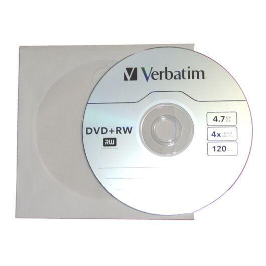 Verbatim DVD+RW 4X Lemez - Papírtokban (10) - 43488_P
