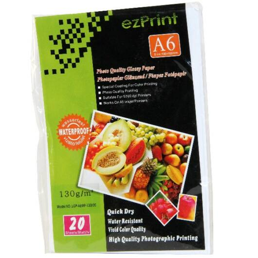 EzPrint Glossy Photo Paper A6 130 g (20) - 1001023