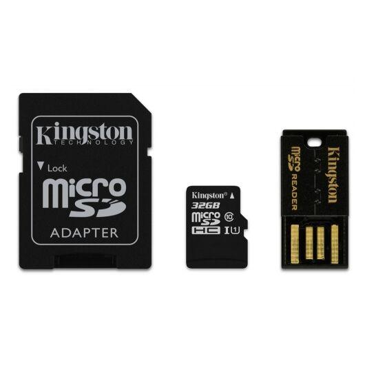 32GB Mobility Kit Kingston Class 10 (Micro SD Memóriakártya + Adapter + Olvasó) (MBLY10G2/32GB) - MBLY10G2_32GB