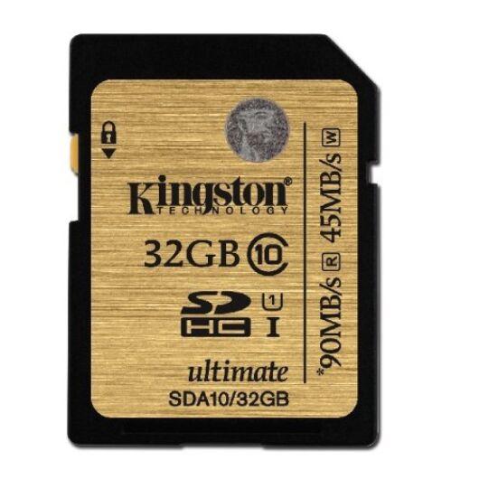Kingston 32GB SDHC Memóriakártya UHS-I Class 10 (90/45 Mb/S) (SDA10/32GB) - SDA10_32GB