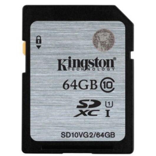 Kingston 64GB SDXC Memóriakártya UHS-I Class 10 (45 Mb/S) (SD10VG2/64GB) - SD10VG2_64GB