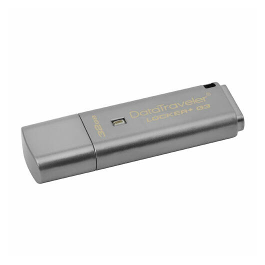 Kingston DataTraveler Locker+ G3 32GB Pendrive - Titkosított - USB 3.0 (DTLPG3/32GB) - DTLPG3_32GB