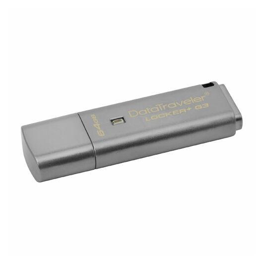 Kingston DataTraveler Locker+ G3 64GB Pendrive - Titkosított - USB 3.0 (DTLPG3/64GB) - DTLPG3_64GB