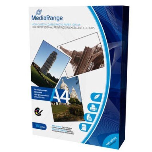 Mediarange MRINK105- Papír A4 Ph. H.Glossy 160 g,100Db - MRINK105