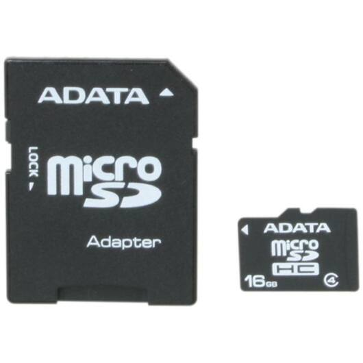 Adata 16GB Micro SDHC Memóriakártya With Adaptor Class 4 (AUSDH16GCL4-RA1) - AUSDH16GCL4_RA1